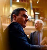 Pedro Sánchez i parlamentet idag. OSCAR DEL POZO / AFP