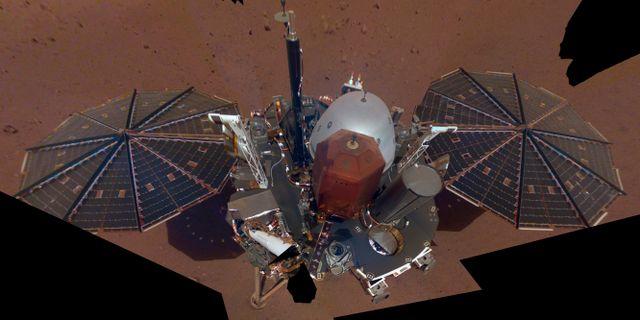 NASA InSights första selfie på Mars.  TT NYHETSBYRÅN/ NTB Scanpix