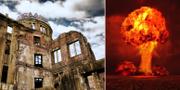 Fredsmonumentet i Hiroshima och testbombningarna i New Mexicos öken. Istock