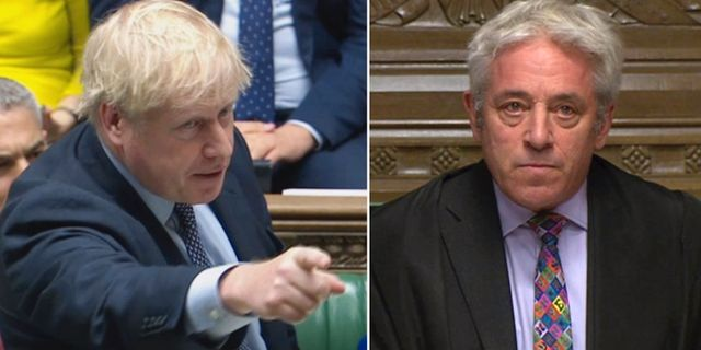 Boris Johnson och John Bercow House of common