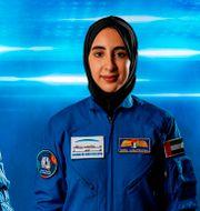 Mohammed al-Mulla och Nora al-Matrooshi. WAM / TT NYHETSBYRÅN
