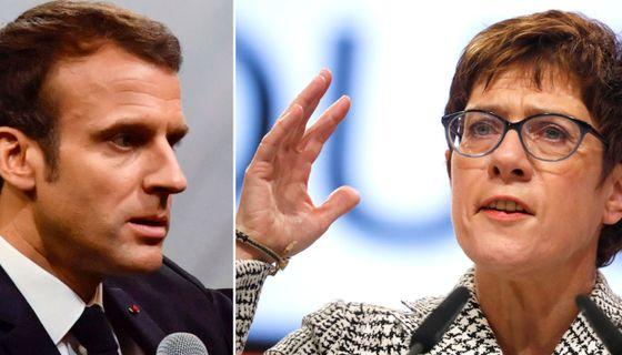 Macron/Kramp-Karrenbauer.