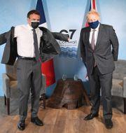 Macron och Johnson på G7-mötet Stefan Rousseau / TT NYHETSBYRÅN