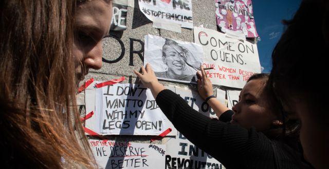 Man dömd för mord på Uyinene Mrwetyana. Mia Holmberg Karlsson/TT / TT NYHETSBYRÅN