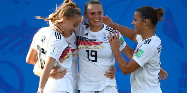 Tyskland efter segern mot Nigeria i åttondelen. DENIS BALIBOUSE / BILDBYRÅN