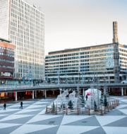 "Sergels torg, eller ""Plattan"", i centrala Stockholm. Christine Olsson/TT / TT NYHETSBYRÅN"