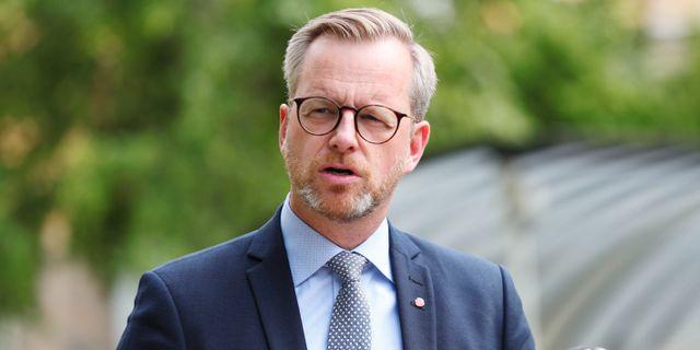 Inrikesminister Mikael Damberg håller pressträff i Linköping. Jeppe Gustafsson/TT / TT NYHETSBYRÅN