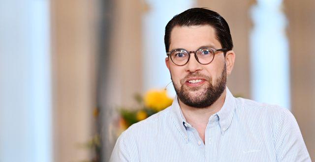 SD:s partiledare Jimmie Åkesson. Stina Stjernkvist/TT / TT NYHETSBYRÅN