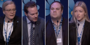 Julia Kronlid, Martin Kinnunen, Leonid Yurkovskiy och Tove Wiberg deltog i debatten om public service. SVT