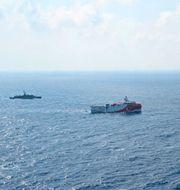 Det turkiska fartyget Oruc Reis letar efter fyndigheter i Medelhavet. TT NYHETSBYRÅN