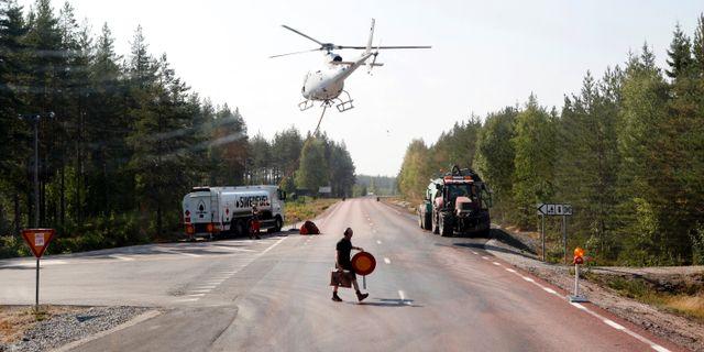 Helikopter landar utanför Ljusdal på söndagen Mats Andersson/TT / TT NYHETSBYRÅN
