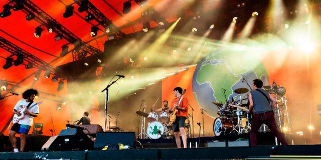US Band Vampire uppträder på Roskildefestivalen  TORBEN CHRISTENSEN / Ritzau Scanpix
