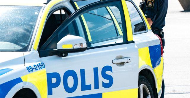 En polisbil. Arkivbild.  Johan Nilsson/TT / TT NYHETSBYRÅN