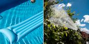 Det är alltid en ökning av vattenförbrukningen i maj när alla är hemma och tar hand om sina trädgårdar och fyller sina pooler.   TT NYHETSBYRÅN