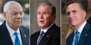 Colin Powell, George W  och Mitt Romney TT