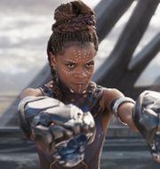 "Skådespelaren Letitia Wright som Shuri i ""Black Panther"". PRESS"