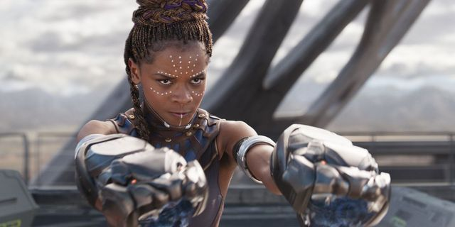 "Skådespelaren Letitia Wright som Shuri i ""Black Panther"". PRESS"