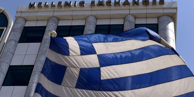 Börsen i Aten.  Arkivbild. ARIS MESSINIS / AFP