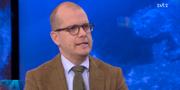 Joakim Bornold i SVT:s Aktuellt på torsdagskvällen.  Skärmdump SVT