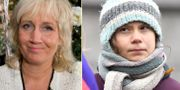 Erika Bjerström/Greta Thunberg. Arkivbilder. TT
