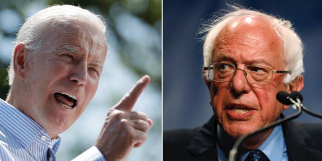 Joe Biden och Bernie Sanders. TT