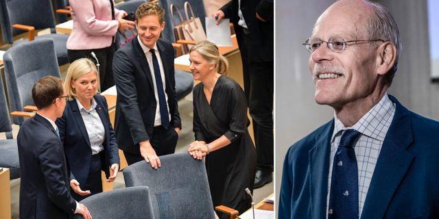 Riksbankschefen Stefan Ingves till höger.  TT