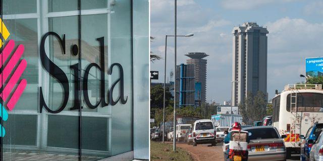 Sidas logotyp, arkivbild från Nairobi. TT.