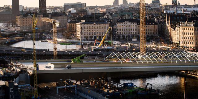 Nya Slussen-bron Erik Simander/TT / TT NYHETSBYRÅN