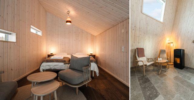 ...och har minimalistisk design och snedtak i olika vinklar. Daniel Holmgren