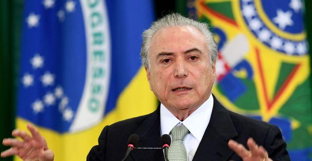 Brasiliens president Michel Temer. EVARISTO SA / AFP