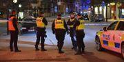 Polisen på plats i centrala Norrköping efter en explosion. Niklas Luks / TT NYHETSBYRÅN