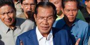 Premiärminister Hun Sen, ledare gör CPP. Heng Sinith / TT NYHETSBYRÅN
