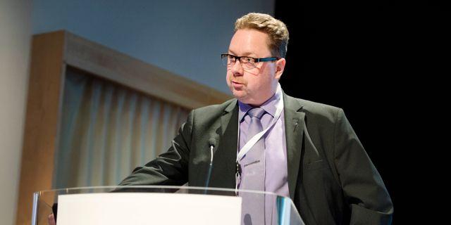 Magnus Pettersson, ordförande för Fastighets och 6F.  JESSICA GOW / TT / TT NYHETSBYRÅN