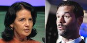Advokatsamfundets Anne Ramberg och Moderaternas Johan Forssell. TT