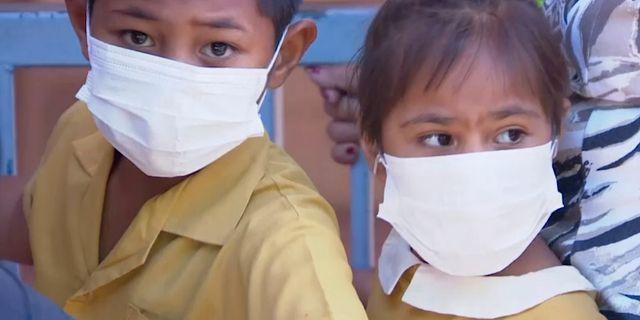 Barn i Samoa.  TT NYHETSBYRÅN