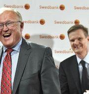 Arkivbild: Swedbanks styrelseordförande Göran Persson och bankens koncernchef Hens Henriksson.  Claudio Bresciani/TT / TT NYHETSBYRÅN
