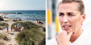 Det blir möjligt för invånare i Norden med sommarhus i Danmark att resa in/Mette Frederiksen, arkivbild. TT