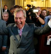 Donald Trump och Nigel Farage.  TT