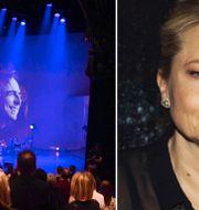Helena Bergström och Björn Källman var kvällens värdpar.  Stina Stjernkvist/TT
