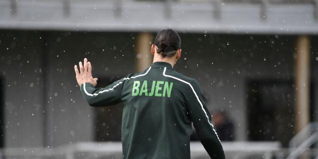 Zlatan Ibrahimovic i Hammarbykläder. Henrik Montgomery/TT / TT NYHETSBYRÅN