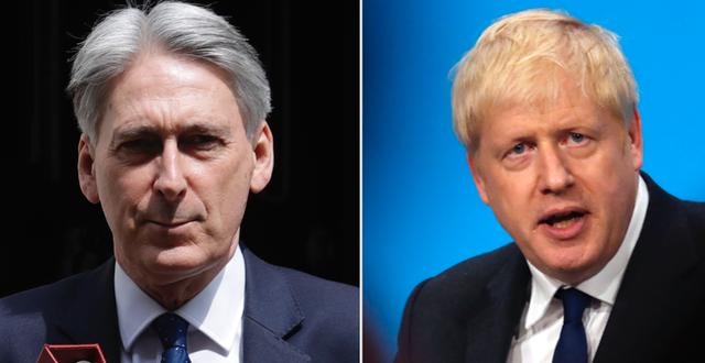 Philip Hammond och Boris Johnson. TT