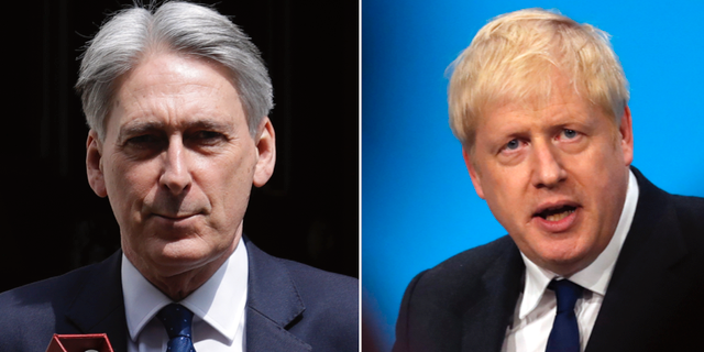 Philip Hammond och Boris Johnson. TT