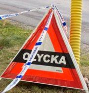 Ölandsbron/Avspärrning vid olycksplatsen TT