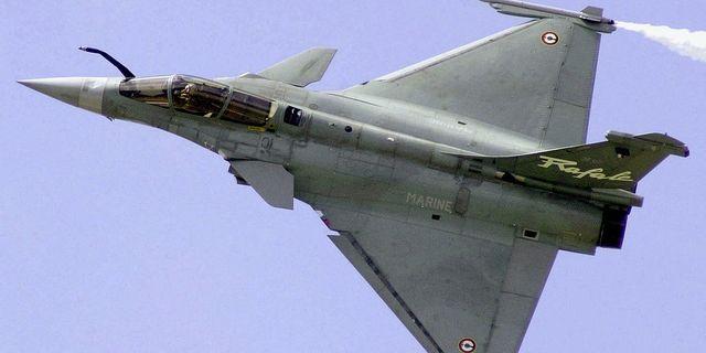 Det franska stridsflygplanet Rafale. Arkivbild. TT