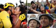 Människor över hela Colombia samlades för att fira segern. TT