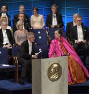 Sara Danius på plats inför Nobelprisutdelningen i Konserthuset 2018. Anders Wiklund/TT / TT NYHETSBYRÅN