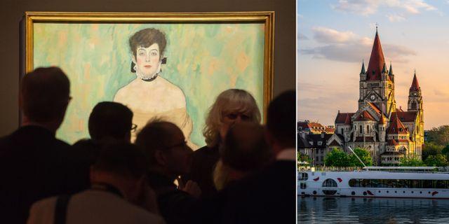 Den legendariska konstnären Gustav Klimt föddes i Wien. Jens Meyer/TT NYHETSBYRÅN/Pierre Blaché/Pexels