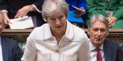 Theresa May i parlamentet idag. BEN BIRCHALL / AFP