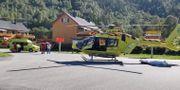 Ambulanshelikopter vid Rjukan Rjukan Arbeiderblad / TT NYHETSBYRÅN