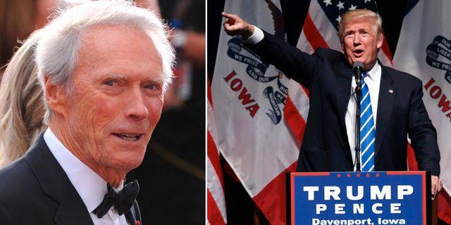 Clint Eastwood (t v), Donald Trump (t h) TT